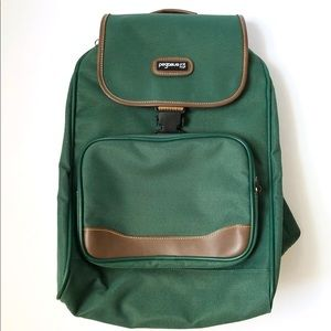 Pegasus Green Vintage Canvas Backpack Like New!